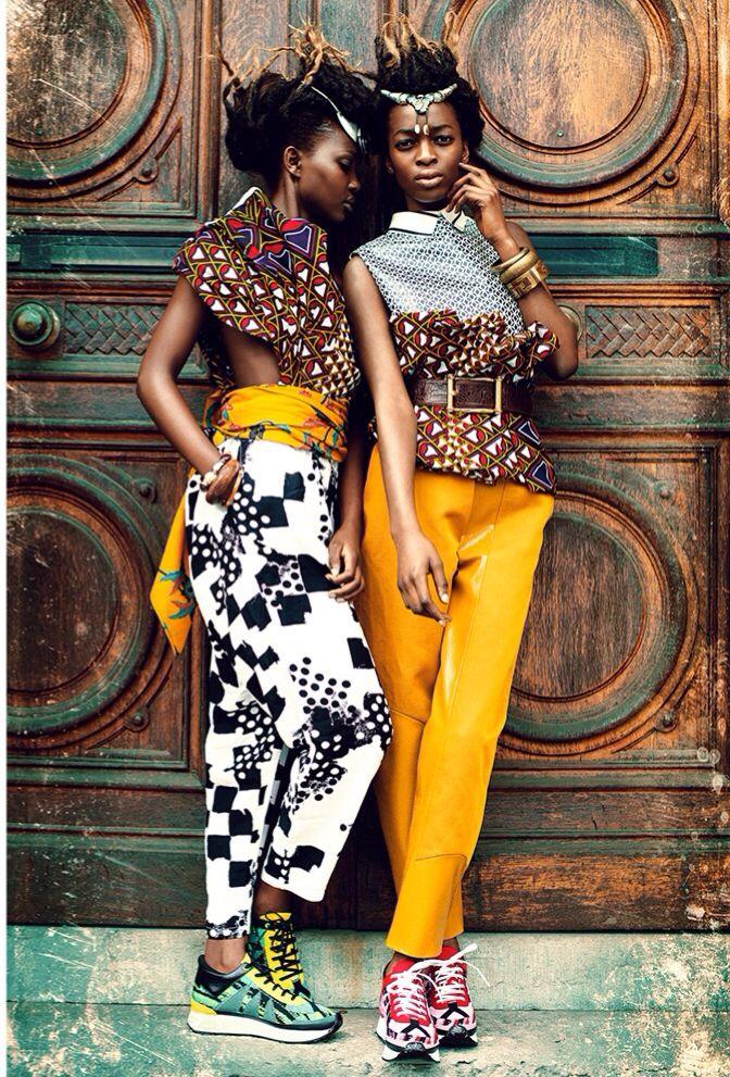 http://www.shorthaircutsforblackwomen.com/african-dresses/ Zion Tribe: Aliane Uwimana Gatabazi and Rachelle Mongita photographed by Maëlle André for MOTEL Magazine