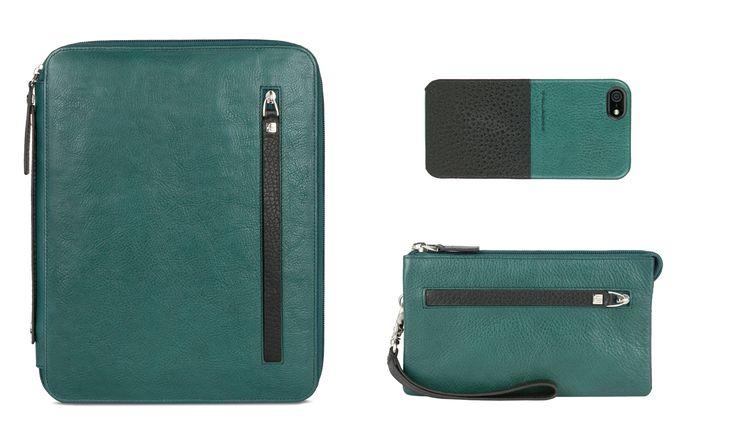 Piquadro Autoritratto iPad case, iPhone cover and small case