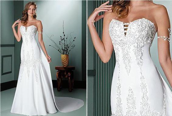 vestido de noiva com diamantes