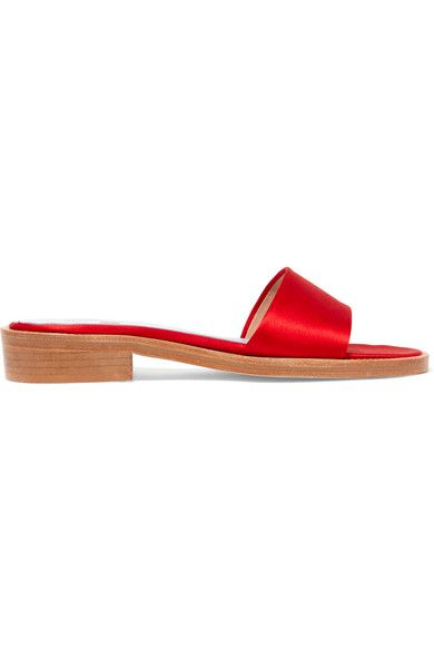 MR by Man Repeller - Satin Slides - Red - IT