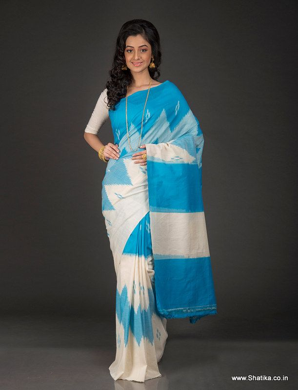 Drape this amazing pochampally cotton saree to be different from others. Woven…