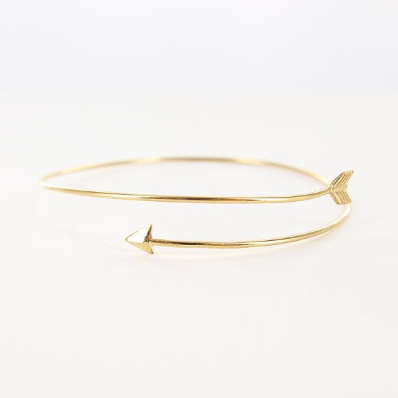 A slim arrow bracelet that's right on target. | 29 Inexpensive Pieces Of Dainty Jewelry You'll Wear Every Day