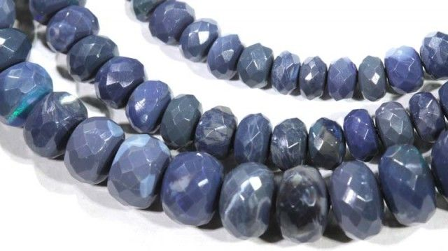 136.40 CTS BLACK OPAL BEADS OVAL DRILLED TBO-5015 black  opal beads, opal beads, opal necklaces