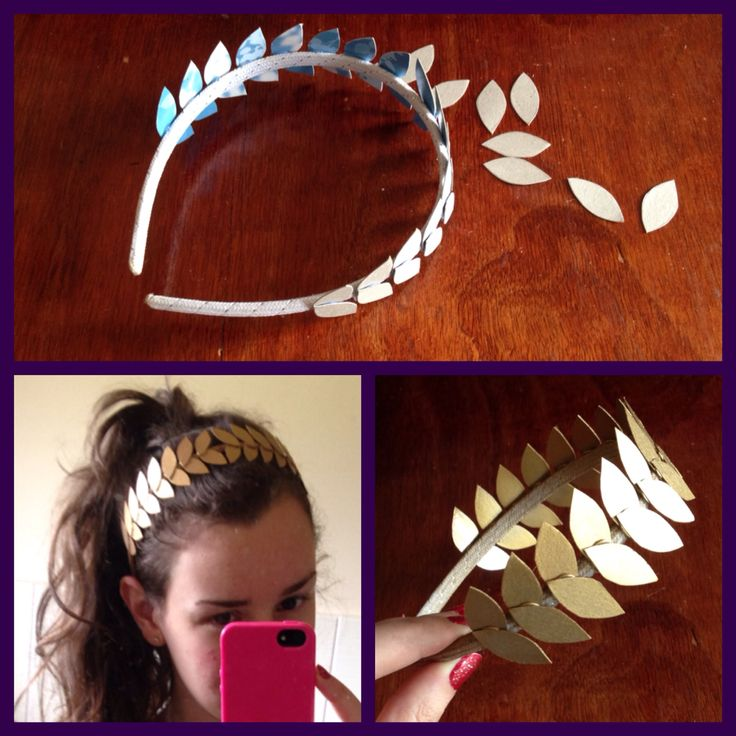 Ancient Greek costume theme - DIY olive head piece. For Lily's Greek dress up day at school