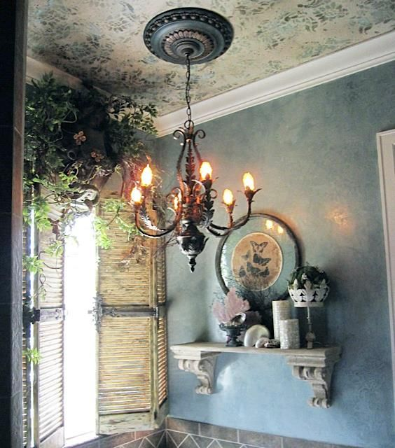 ... Blank Canvas Design Studio Used Our Venetian Plaster On The Walls For  An Elegant, Polished Blue Finish And A Mix Of Our Metal Effects And  Metallic Paint ...