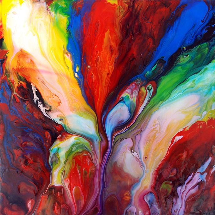 Mark Chadwick painting, art, rainbow colors