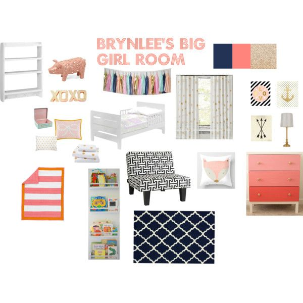 Navy coral and gold toddler room nursery by Xhilaration home decor
