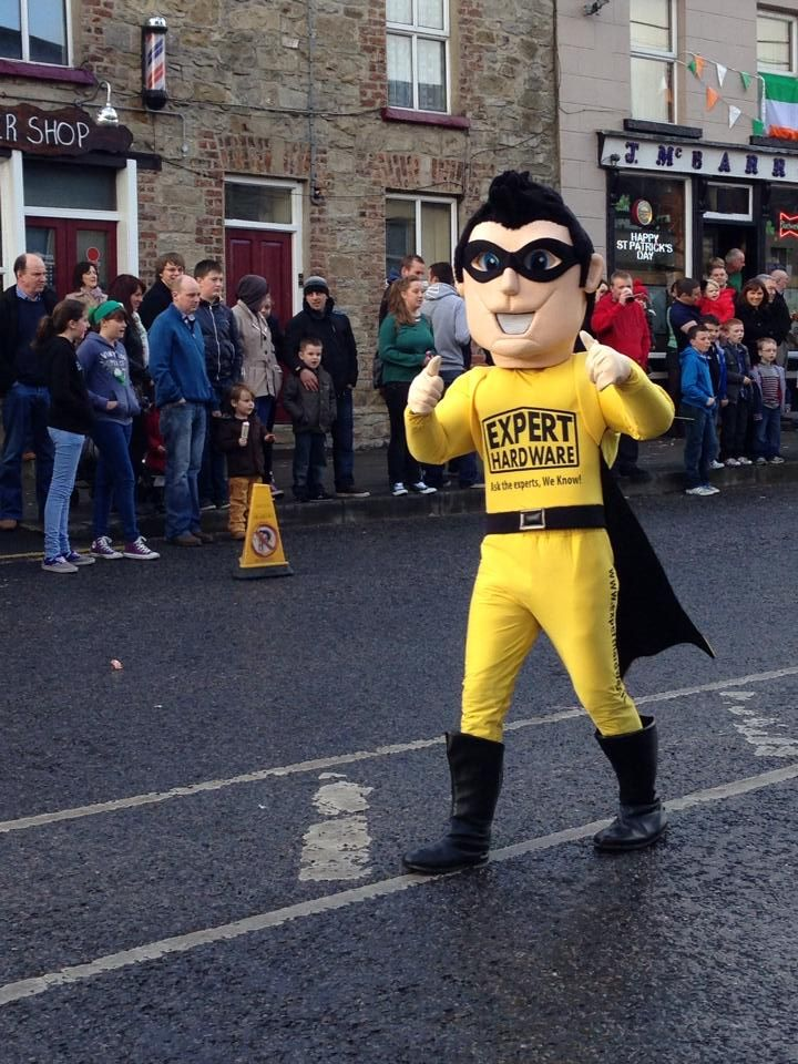 Expert Hardware Man in the Ballyconnell St. Patrick's day parade!