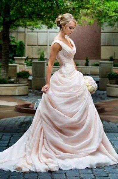 Soft blush pink wedding dress - Wedding Diary