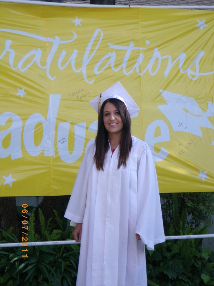 Francesca at graduation
