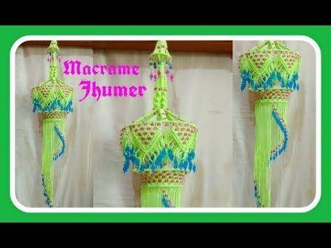 Easy Tutorial of Macrame Jhumar. - YouTube