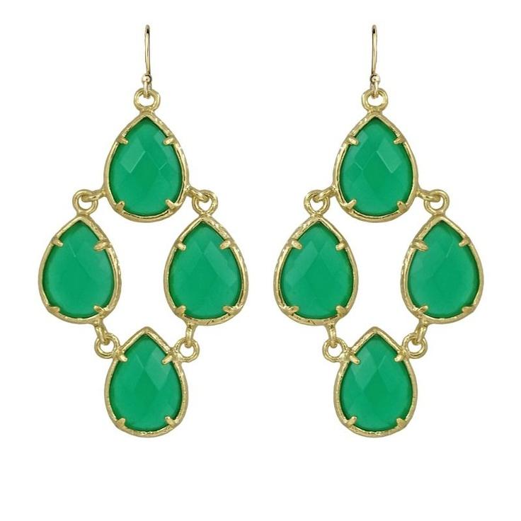 Kendra Scott Carlone Green Onyx Earrings