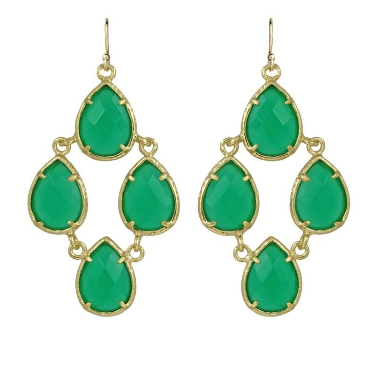 Kendra Scott Carlone Green Onyx Earrings