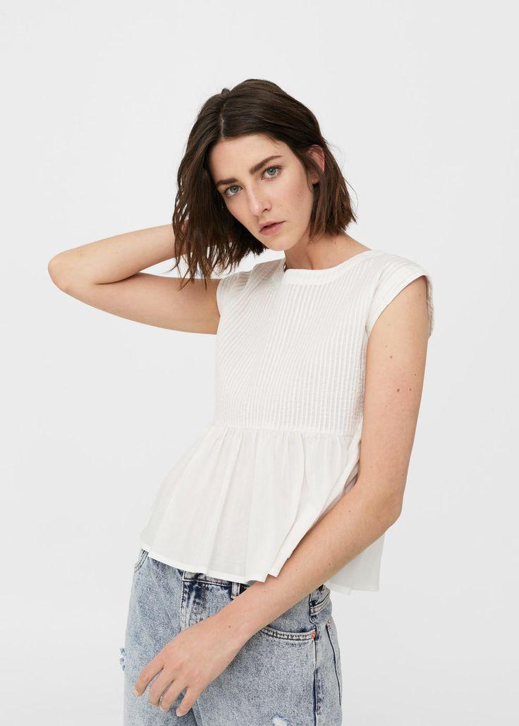 Cotton top | MANGO