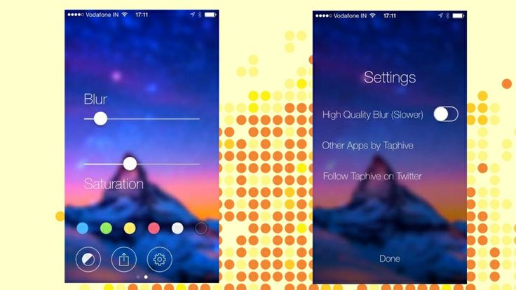 Blur Studio Creates Blurred iOS 7 Wallpapers from Any Image ($1.99)
