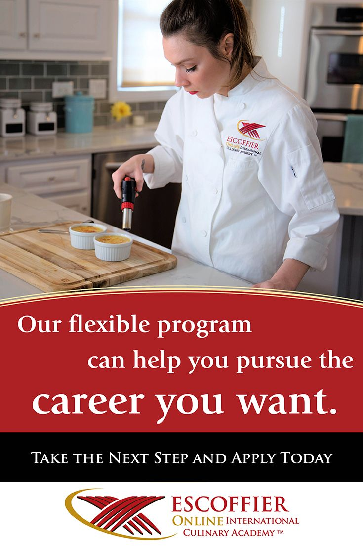 b2c3a01f135 Earn a respected certification from a legendary name in the baking and  pastry profession. | Online Culinary School | Baking, pastry, Baking, Chef  jackets