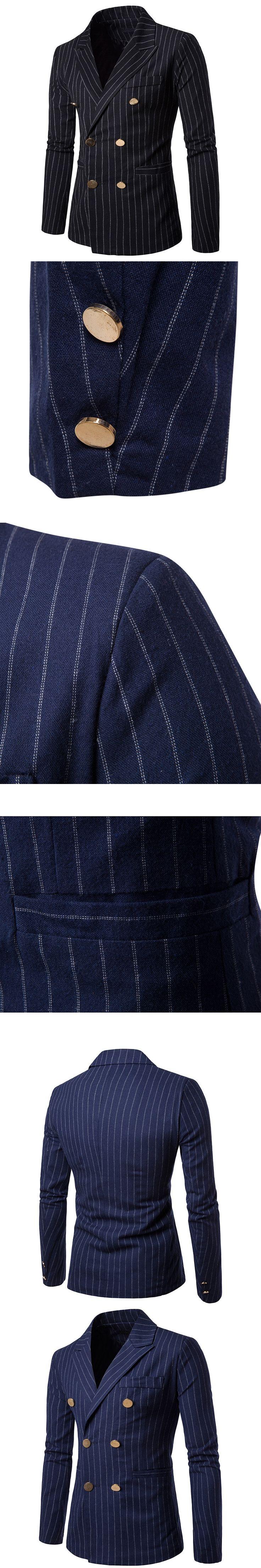 Men Striped Blazer Designs High Quality Fashion Slim Fit Suit Wedding Suits for Men Latest Coat Pant Designs Jacket Men Casual