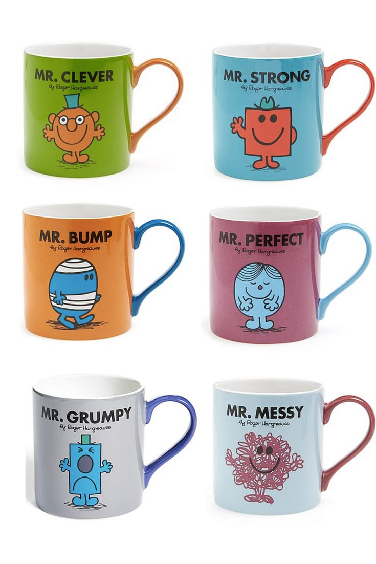 I grew up loving the books. Now I kinda really really want these mugs.
