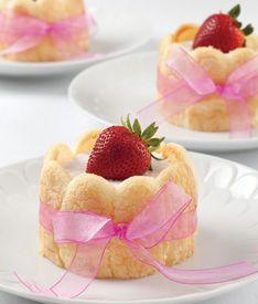 Strawberry Mousse Ladyfingers
