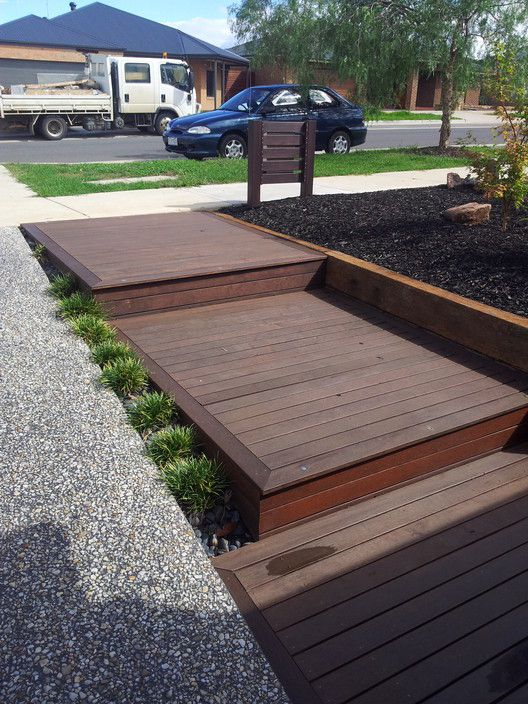 Entrance steps, merbau decking. - JL Timber Solutions, Fencing Construction, Doreen, VIC, 3754 - TrueLocal