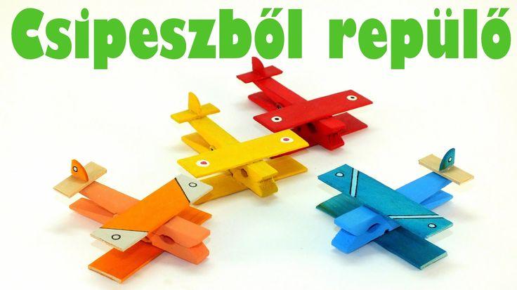 Csipeszből repülő - Kreatív ötletek gyerekeknek