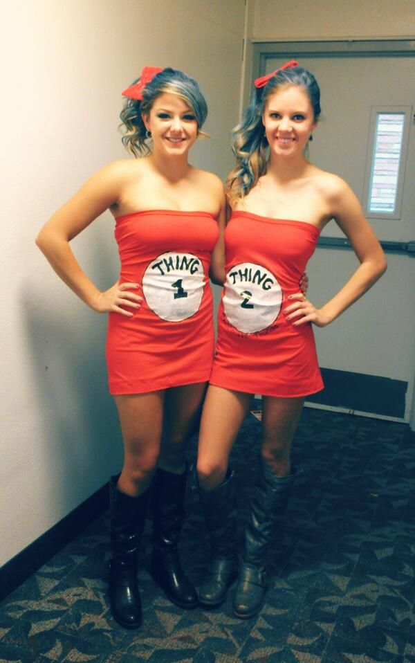 halloween diy costume thing 1 and thing 2 cute college