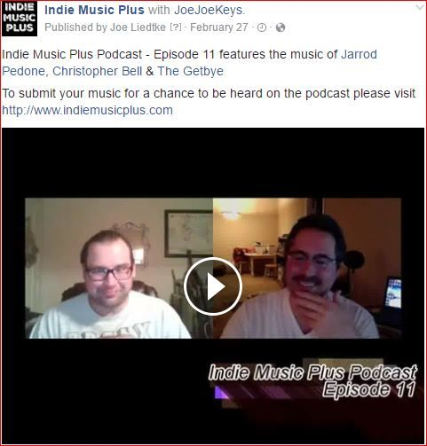 Indie Music Plus Podcast - Episode 11 features the music of Jarrod Pedone, Christopher Bell & The Getbye To submit your music for a chance to be heard on the podcast please visit http://www.indiemusicplus.com