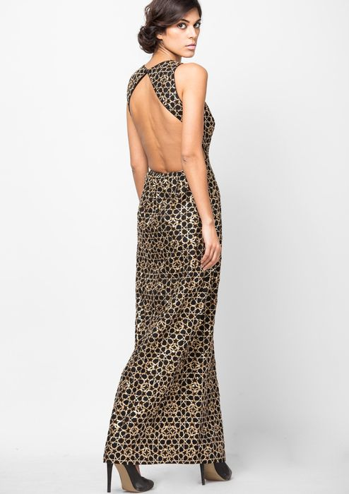 Trending embroidered backless gowns best for evenings  via @Roposo