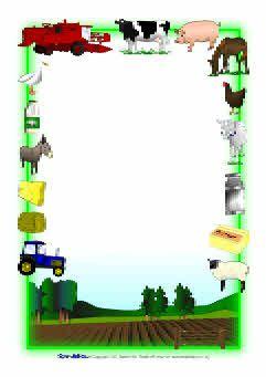 Farm-themed A4 page borders (SB3887) - SparkleBox