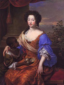 Луиза Рене́ де Керуа́ль(фр.Louise Renée de Kérouaille;6.09.1649-14.11.1734,Париж) фав-ка Карла II,политич.авантюр-ка.Была придв. дамой сестры Карла II,Генриетты Орлеанской.Людовик XIV отпр.ее в Англию вместе с Генриеттой с целью привл.на св. сторону Карла II.Керуаль произвела впечатл.на англ.короля и скоро стала его фавор. Он дал ей титул герц.Портсмутской, граф.Фарельзамской и баронессы Петерсфильдской, Людовик XIV-герц. д'Обиньи (1673).