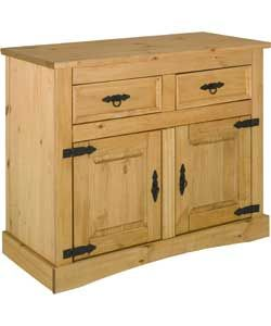 Great Aruba Door and Drawer Solid Pine Sideboard Light