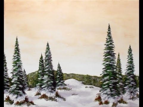 How to Paint Snow - Acrylic Painting Tips and Techniques
