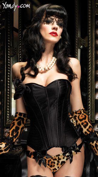 Black Paige Corset $67.95: Paige Corsets, Sexy Lingerie, Black Corsets, Leopards Prints, Legs Avenu, Satin Corsets, Gloves Boots Corsets Lingerie, Corsets Sexy, Cheetahs Prints