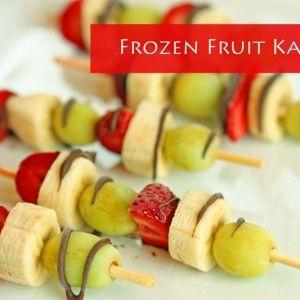 Frozen Fruit Kabobs