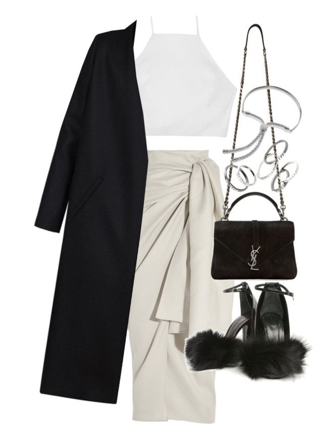 """""""Untitled #20543"""" by florencia95 ❤ liked on Polyvore featuring Joseph, Yves Saint Laurent, rag & bone, Alexander Wang, Non, MANGO and Monica Vinader"""