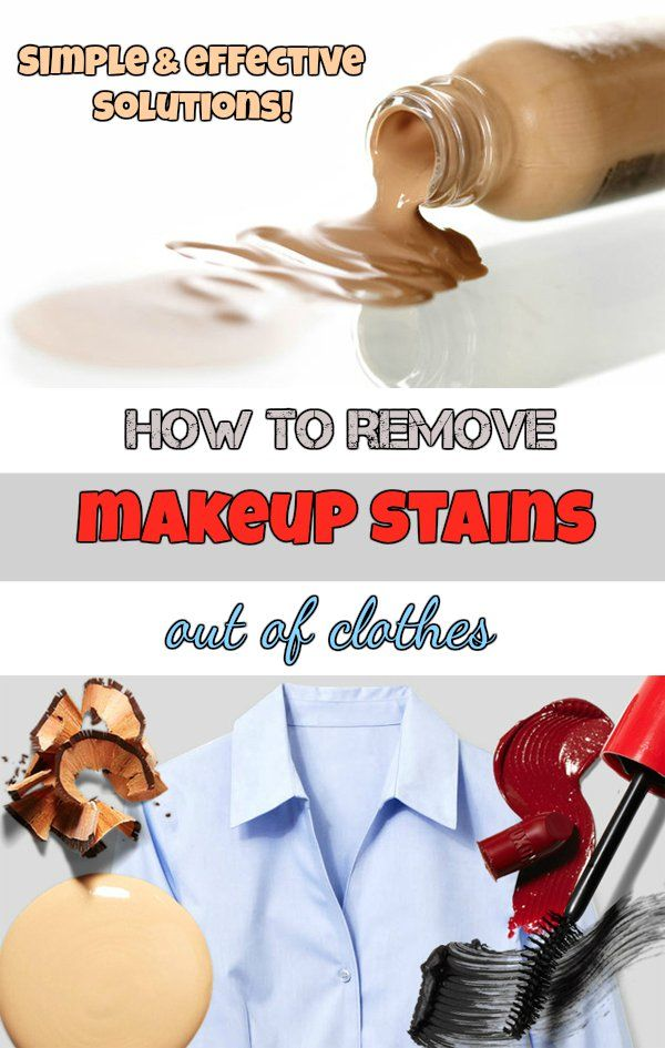 How to remove makeup stains out of clothes. Simple and effective solutions! - nCleaningTips.com