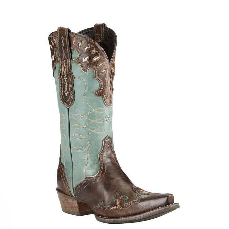 Ariat Zealous Women's Cowgirl Boots Teal Green