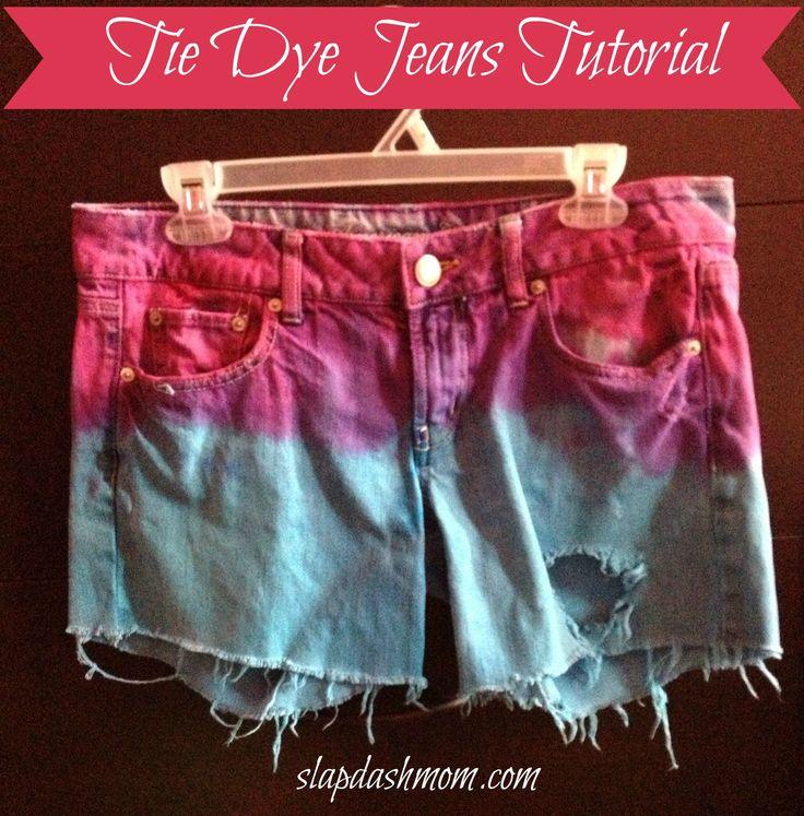 Tie Dye Jeans Tutorial