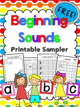 This is a sample of a larger set of printables to help students practice letter-sound correspondence and identify beginning sounds.