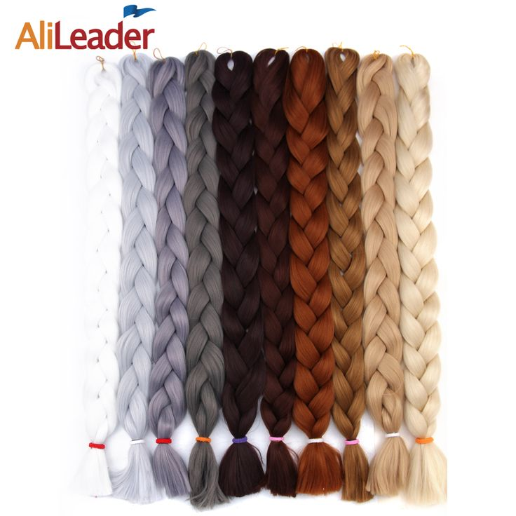 AliLeader Crochet Braids Synthetic Hair Extensions For Braids, 36 Inch Expression Braiding Hair Black Blue Purple Pink Afro Hair