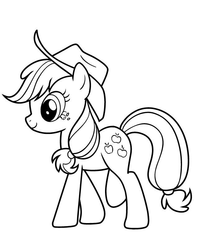 For Kids Applejack Coloring Pages Best Coloring Pages For Kids Already Colored My Little Pony Coloring Horse Coloring Pages My Little Pony Printable