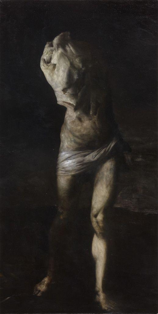 Nicola Samorì - 'Tower' - 2012, oil on linen, 200 x 100 cm
