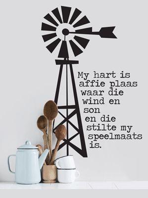 Affie Plaas Windpomp Afrikaans www.stickart.co.za