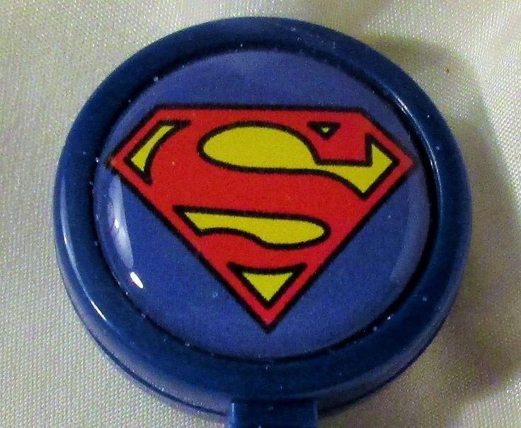 "SUPERMAN 1"" Large Face ID REEL holder superhero blue belt clip retractable badge #Handmade"