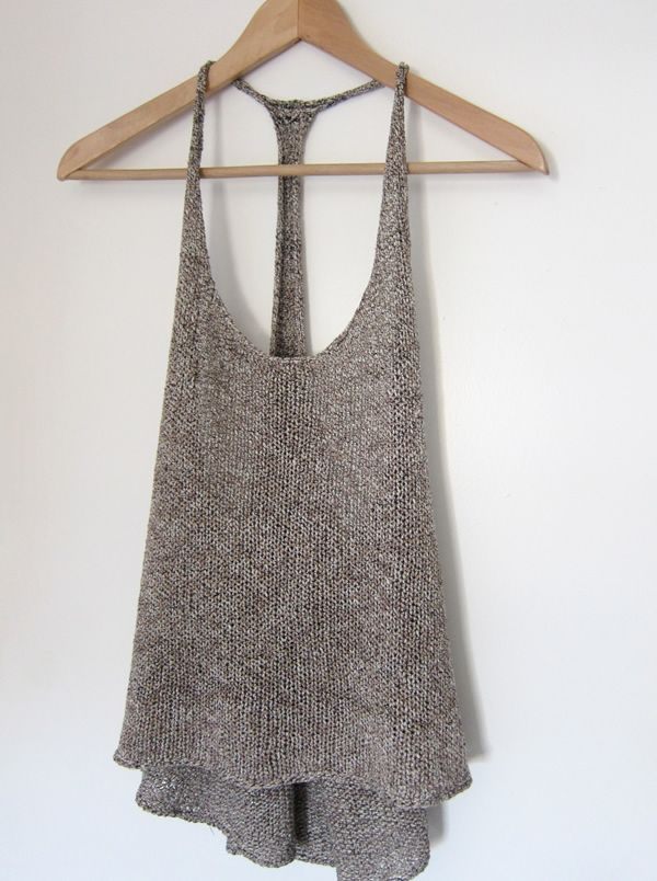 Espace Tricot's latest pattern is ready for download! A racerback tee knit with Wrapped Silk (N-84) from Habu Textiles! Designed to layer over a tank top or t-shirt, Villeneuve is a chic addi…