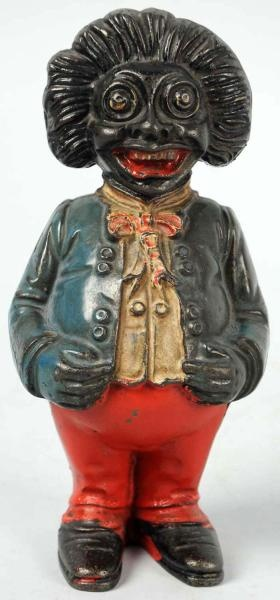GOLLIWOG cast iron bank on auciton. Estimate $200 - $400.