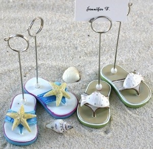 These Darling Flip Flop Shaped Placecard Holders Are The Perfect Addition To Summer Wedding Reception
