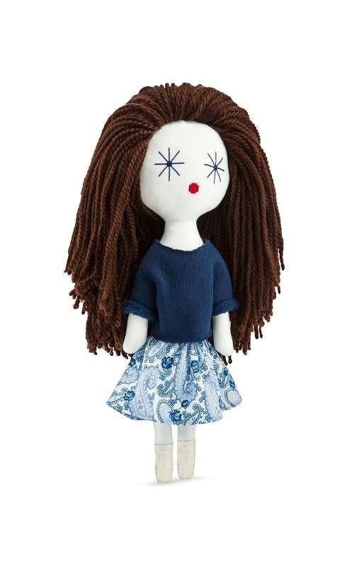 Laloushka Forget-me-not beautiful rag doll you can buy at laloushka.eu