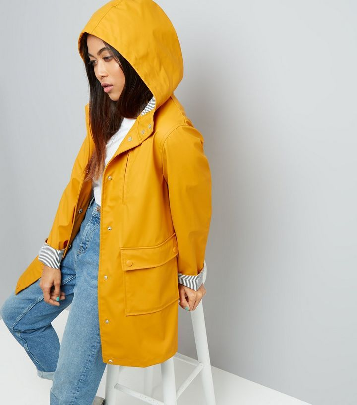 L2017 http://www.newlook.com/row/womens/clothing/jackets-coats/petite-yellow-stripe-cuff-longline-matte-anorak/p/533247285?comp=Browse