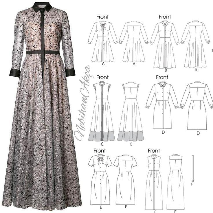 """1,965 Beğenme, 45 Yorum - Instagram'da Nebihan Akça (@nebihanakca): """"Kalıp örnekleri ile bir elbise daha. Elbise büyük bir markanın şimdi isim verip reklam yapmıyım…"""""""